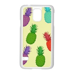 Colorful Pineapples Wallpaper Background Samsung Galaxy S5 Case (white)