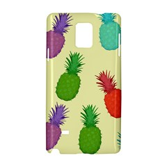 Colorful Pineapples Wallpaper Background Samsung Galaxy Note 4 Hardshell Case
