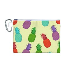 Colorful Pineapples Wallpaper Background Canvas Cosmetic Bag (M)
