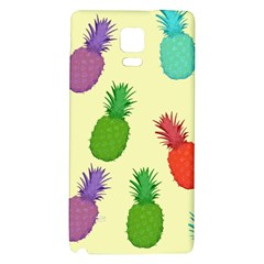 Colorful Pineapples Wallpaper Background Galaxy Note 4 Back Case