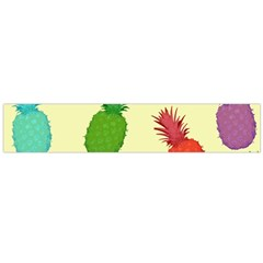 Colorful Pineapples Wallpaper Background Flano Scarf (large)