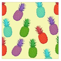Colorful Pineapples Wallpaper Background Large Satin Scarf (Square)