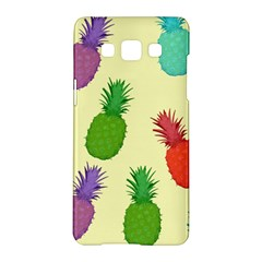 Colorful Pineapples Wallpaper Background Samsung Galaxy A5 Hardshell Case