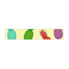 Colorful Pineapples Wallpaper Background Flano Scarf (Mini)