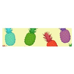 Colorful Pineapples Wallpaper Background Satin Scarf (Oblong)