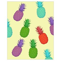 Colorful Pineapples Wallpaper Background Drawstring Bag (small)