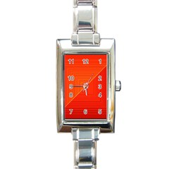Abstract Clutter Baffled Field Rectangle Italian Charm Watch