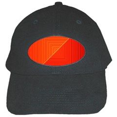 Abstract Clutter Baffled Field Black Cap