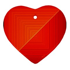 Abstract Clutter Baffled Field Ornament (Heart)