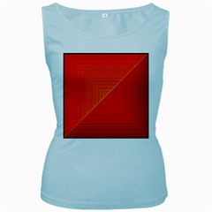 Abstract Clutter Baffled Field Women s Baby Blue Tank Top