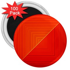 Abstract Clutter Baffled Field 3  Magnets (100 Pack)
