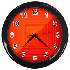 Abstract Clutter Baffled Field Wall Clocks (Black)