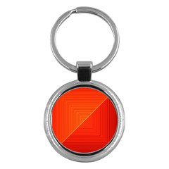 Abstract Clutter Baffled Field Key Chains (Round)