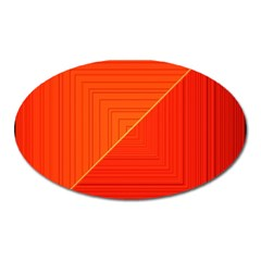 Abstract Clutter Baffled Field Oval Magnet