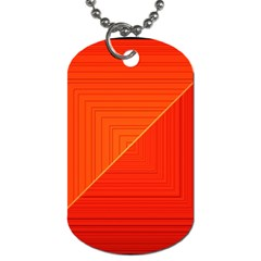 Abstract Clutter Baffled Field Dog Tag (two Sides)