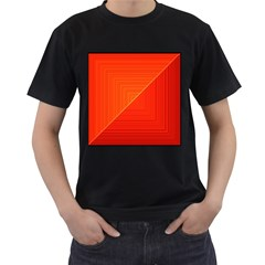 Abstract Clutter Baffled Field Men s T Shirt (black) (two Sided)