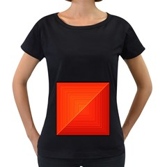 Abstract Clutter Baffled Field Women s Loose-Fit T-Shirt (Black)