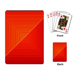 Abstract Clutter Baffled Field Playing Card