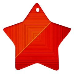 Abstract Clutter Baffled Field Star Ornament (two Sides)