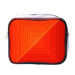Abstract Clutter Baffled Field Mini Toiletries Bags