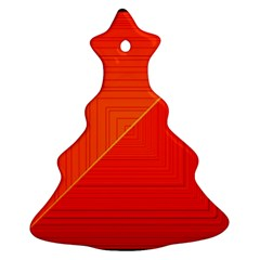 Abstract Clutter Baffled Field Christmas Tree Ornament (Two Sides)