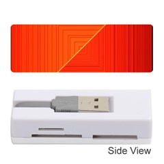 Abstract Clutter Baffled Field Memory Card Reader (stick)