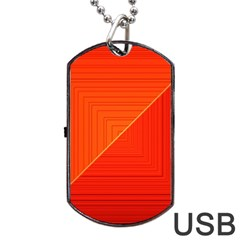 Abstract Clutter Baffled Field Dog Tag Usb Flash (two Sides)