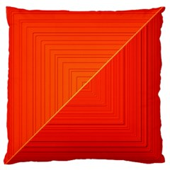 Abstract Clutter Baffled Field Large Cushion Case (One Side)
