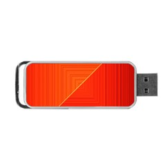 Abstract Clutter Baffled Field Portable USB Flash (Two Sides)