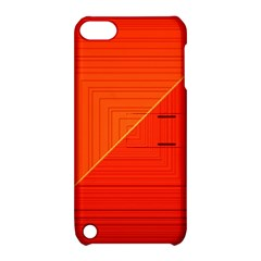 Abstract Clutter Baffled Field Apple iPod Touch 5 Hardshell Case with Stand