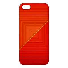 Abstract Clutter Baffled Field iPhone 5S/ SE Premium Hardshell Case