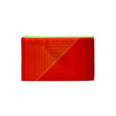 Abstract Clutter Baffled Field Cosmetic Bag (xs)
