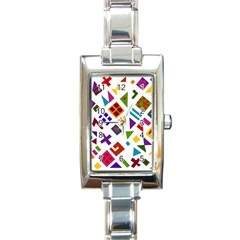 A Colorful Modern Illustration For Lovers Rectangle Italian Charm Watch