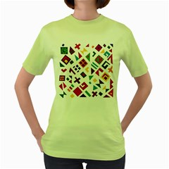 A Colorful Modern Illustration For Lovers Women s Green T Shirt
