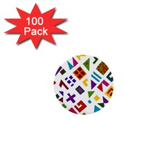 A Colorful Modern Illustration For Lovers 1  Mini Buttons (100 pack)