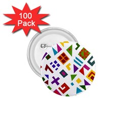 A Colorful Modern Illustration For Lovers 1.75  Buttons (100 pack)