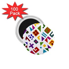 A Colorful Modern Illustration For Lovers 1 75  Magnets (100 Pack)