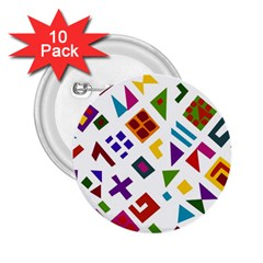 A Colorful Modern Illustration For Lovers 2 25  Buttons (10 Pack)