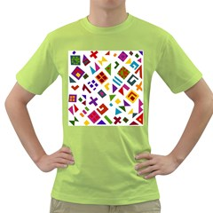 A Colorful Modern Illustration For Lovers Green T-Shirt