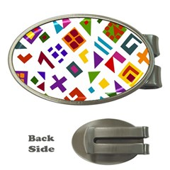 A Colorful Modern Illustration For Lovers Money Clips (Oval)