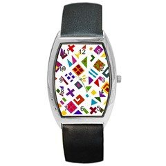 A Colorful Modern Illustration For Lovers Barrel Style Metal Watch