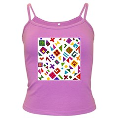 A Colorful Modern Illustration For Lovers Dark Spaghetti Tank