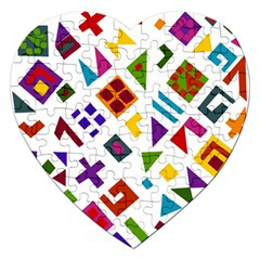 A Colorful Modern Illustration For Lovers Jigsaw Puzzle (heart)