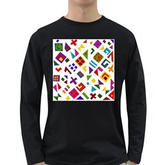 A Colorful Modern Illustration For Lovers Long Sleeve Dark T Shirts