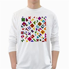 A Colorful Modern Illustration For Lovers White Long Sleeve T Shirts
