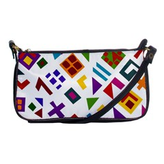 A Colorful Modern Illustration For Lovers Shoulder Clutch Bags