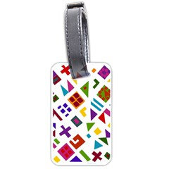 A Colorful Modern Illustration For Lovers Luggage Tags (one Side)