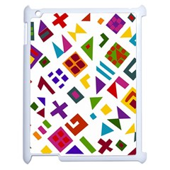 A Colorful Modern Illustration For Lovers Apple iPad 2 Case (White)