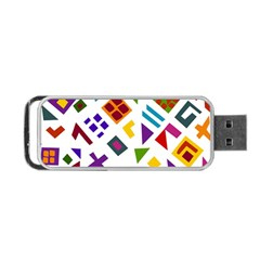 A Colorful Modern Illustration For Lovers Portable Usb Flash (two Sides)