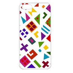 A Colorful Modern Illustration For Lovers Apple iPhone 5 Seamless Case (White)